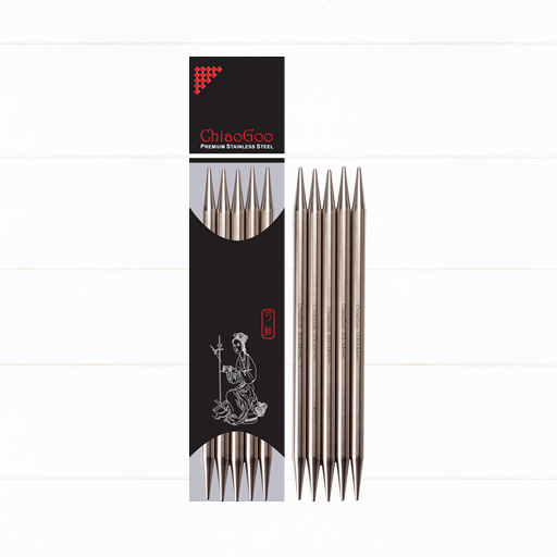 ChiaoGoo SS Double Point 5-piece stainless steel double pointed needles