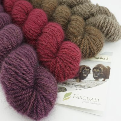 Alaska 3 . luxury yarn made from musk-ox hair