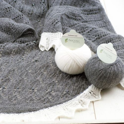 "Wollpaket | Tuch ""Pari Mahal"" aus Cashmere Lace 