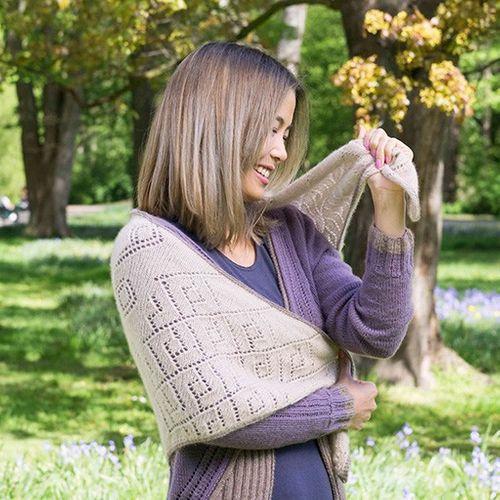 Strickanleitung | Dreiecktuch Cozy Autumn aus Cashmere Lace  001