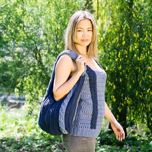 Wollpaket - Tragetasche Sunshine aus Pascuali Re Jeans mit Strickanleitung by Pascuali Design