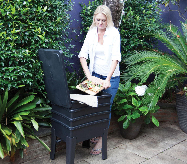 WURMFARM WURMKOMPOSTER WURMKISTE WORMCAFÉ von NATURSACHE - Komposter aus recyceltem Plastik - Wurmfarm für Küche, Balkon und Garten - ohne KOMPOSTWÜRMER & Zubehör – Bild 5