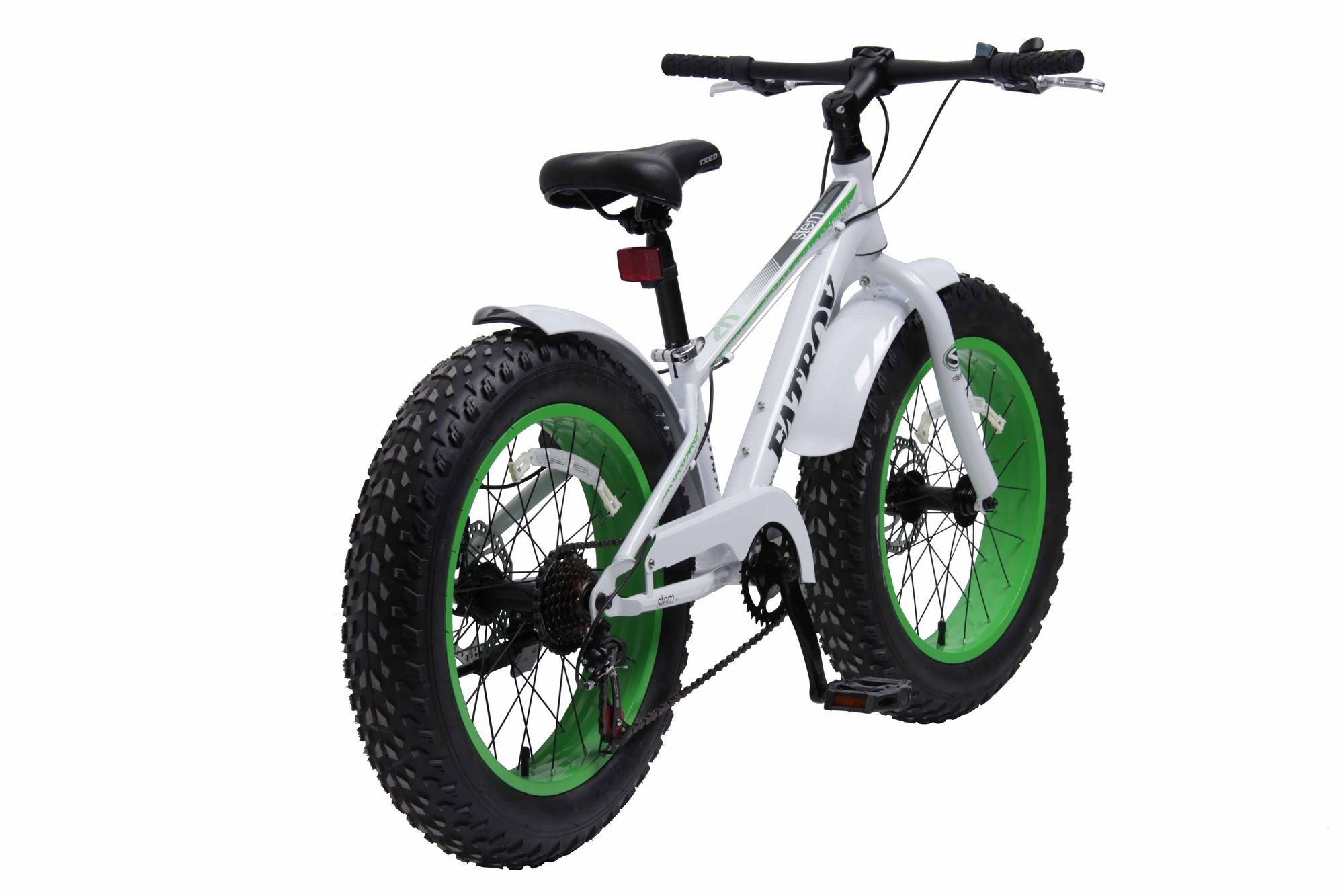 kinderfahrrad 20 zoll stem kinder fatbike fahrrad wei gr n 7 gang shimano ebay. Black Bedroom Furniture Sets. Home Design Ideas