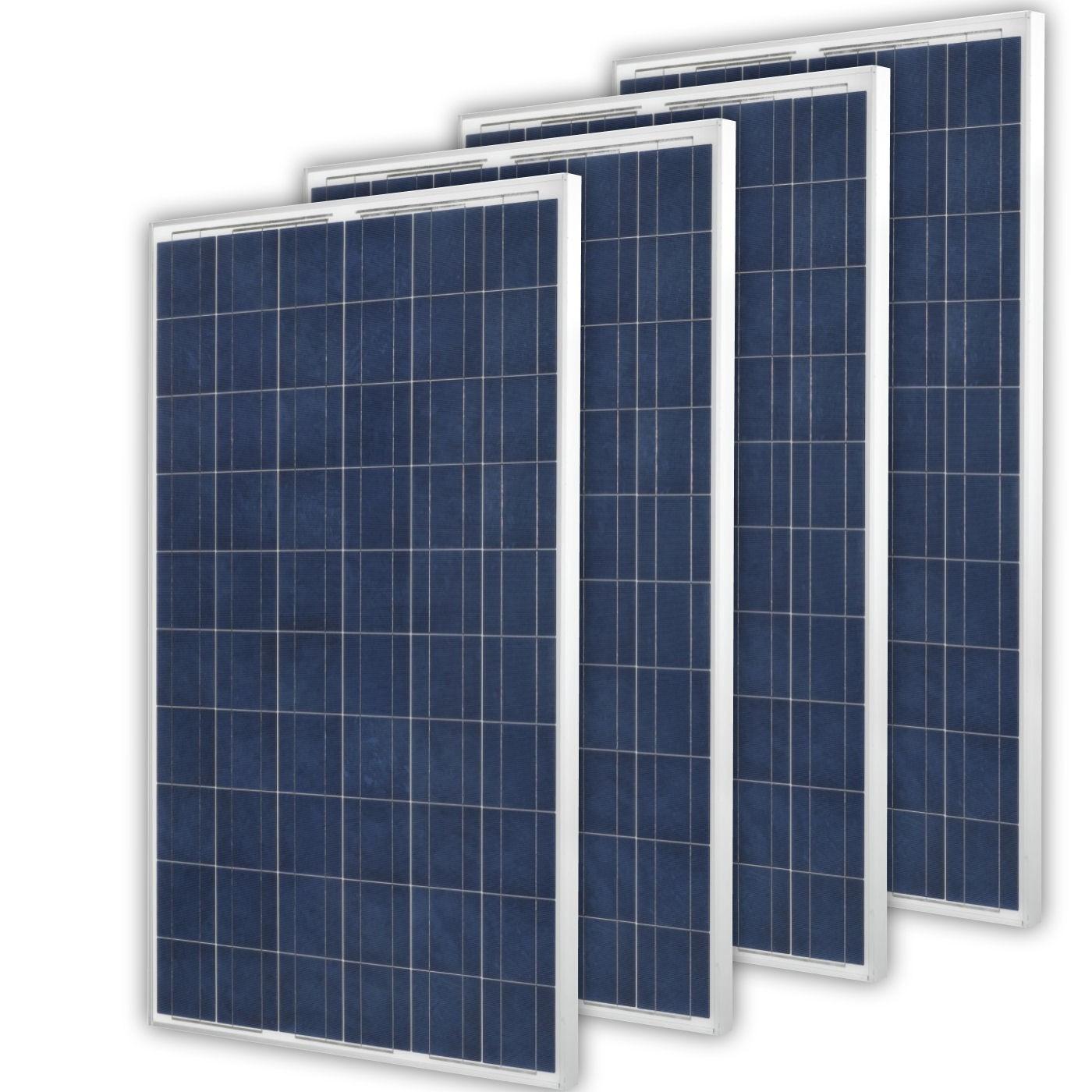 Solarpanel 4 x 250Watt Polykristallin Solarpanel Poly