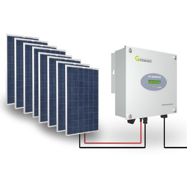 Growatt Solar Set 2000-S PV Inverter 2000 W Wechselrichter Solar 1-phasig Display