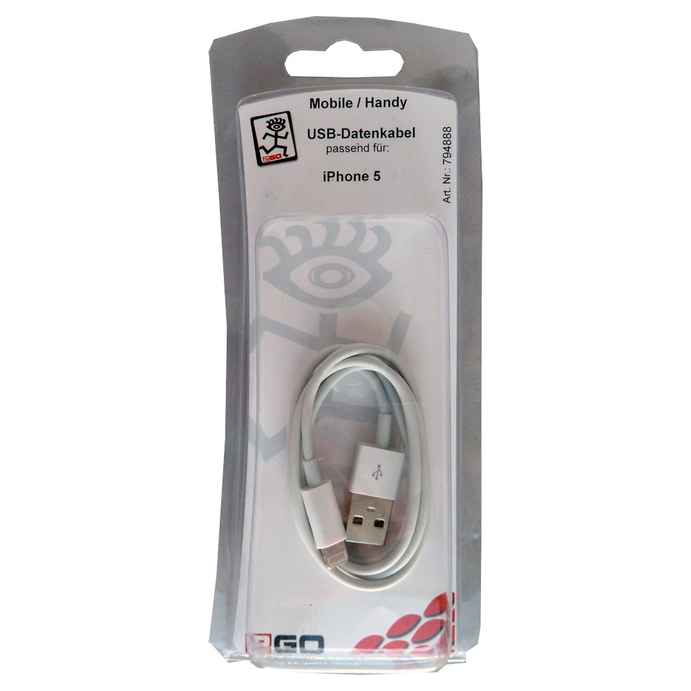 2GO USB-data cable suitable for iPhone 5 / iPod Nano 7 white   – Bild 2