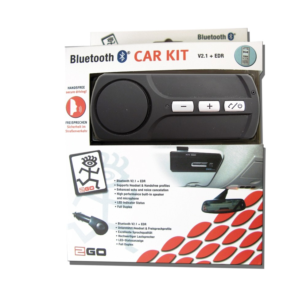 2GO Bluetooth hands-free car kit for sun shield – Bild 2