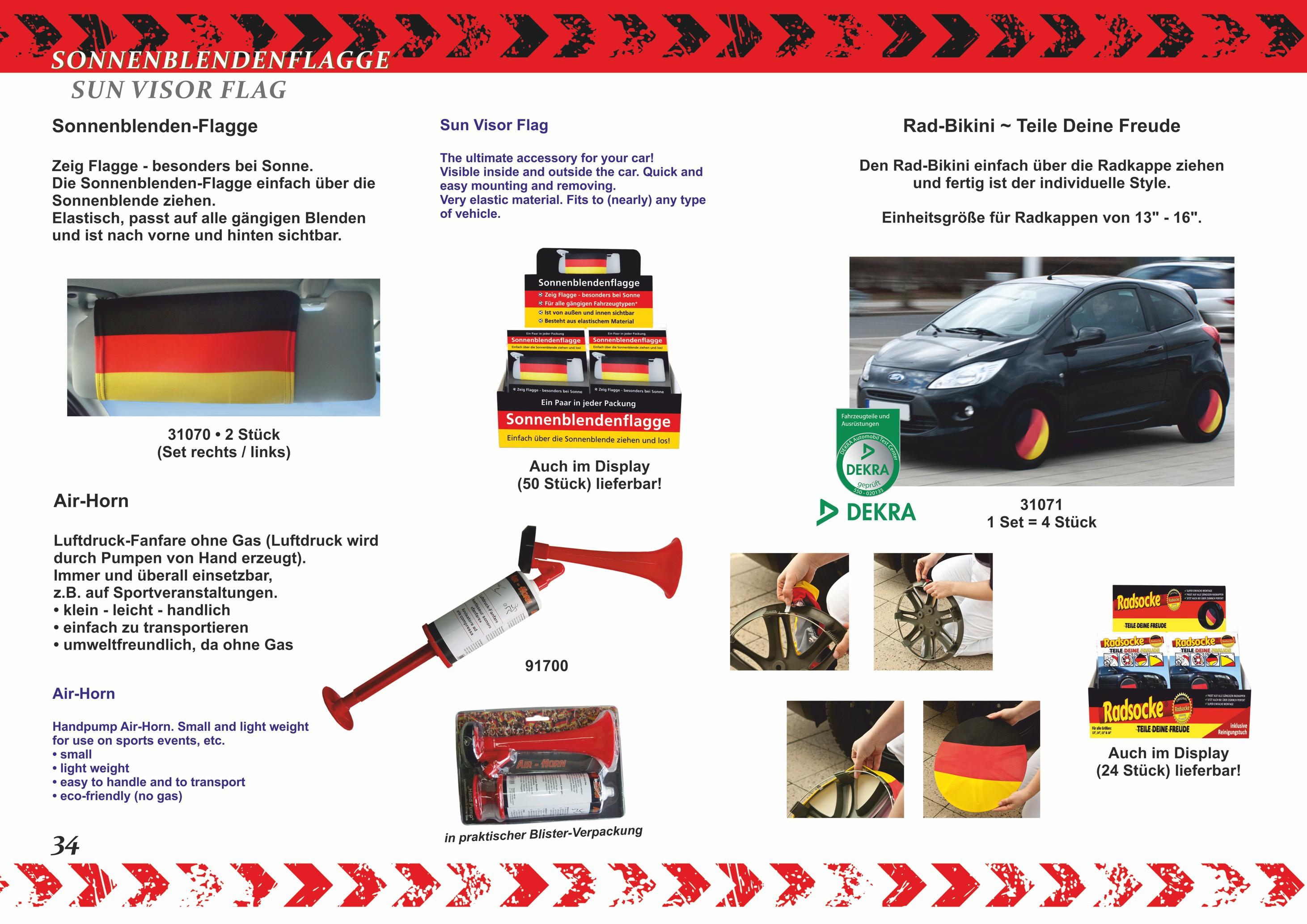 Außenspiegelflagge Car-Bikini 2er-Set Einschussloch Totenkopf – Bild 4