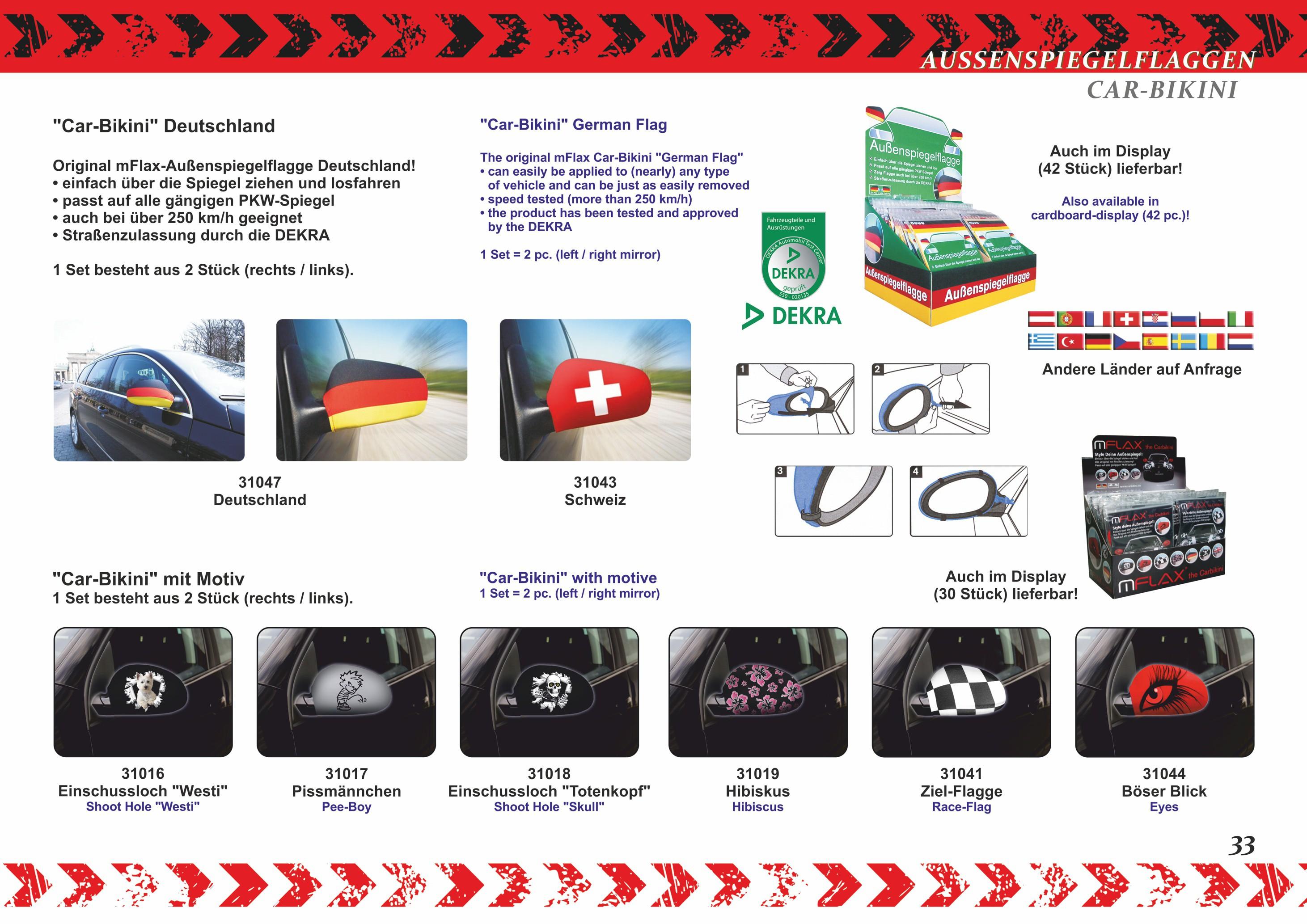 Außenspiegelflagge Car-Bikini 2er-Set Ziel-Flagge – Bild 3