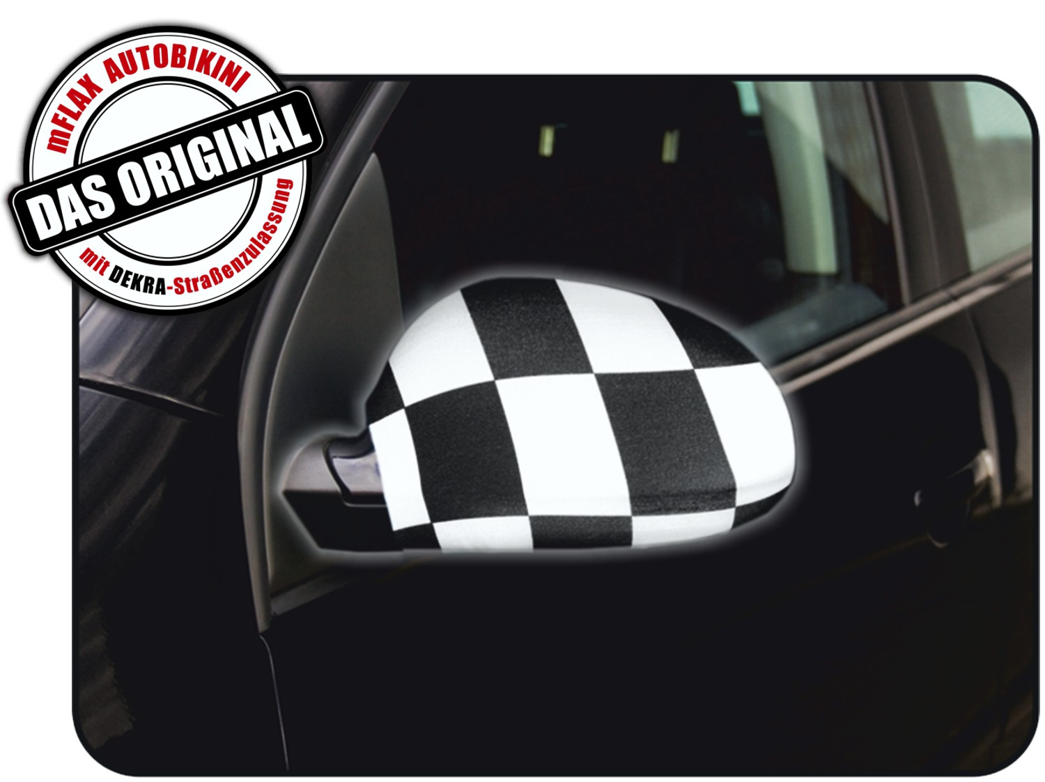 Car-Bikini set of 2 chequered flag – Bild 1
