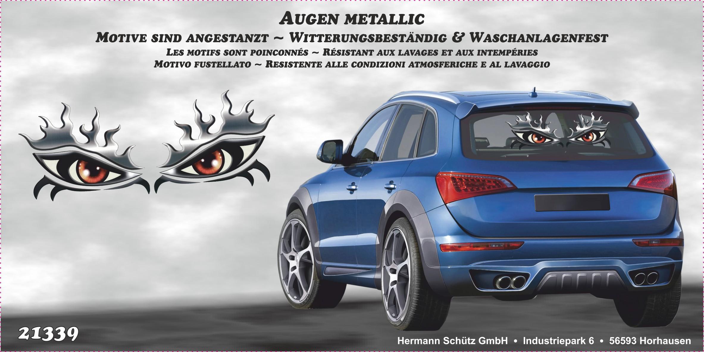 Fenster- und Car-Tattoo Augen metallic – Bild 2