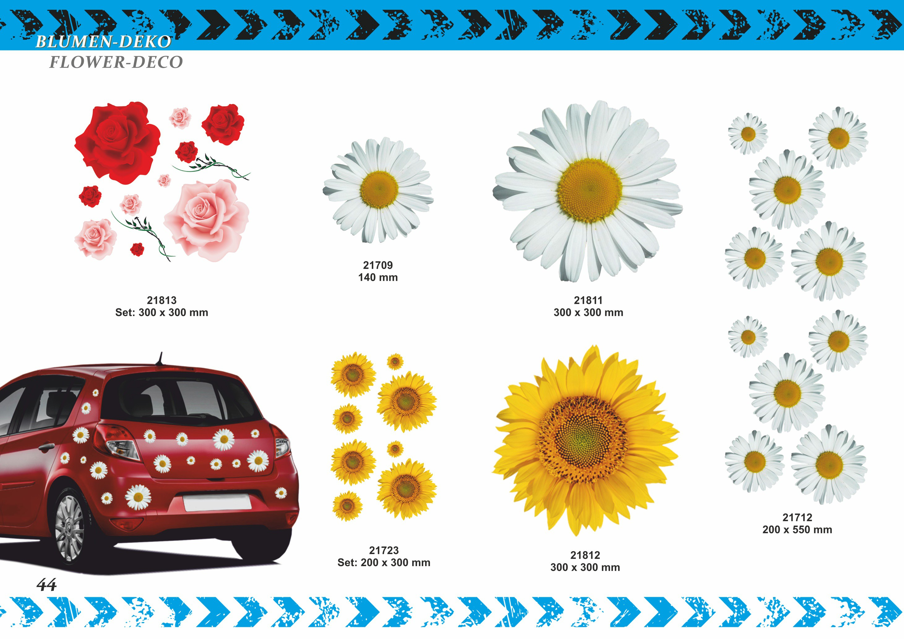 Sticker Oxeye Daisy Flower 180 x 160 mm – Bild 4