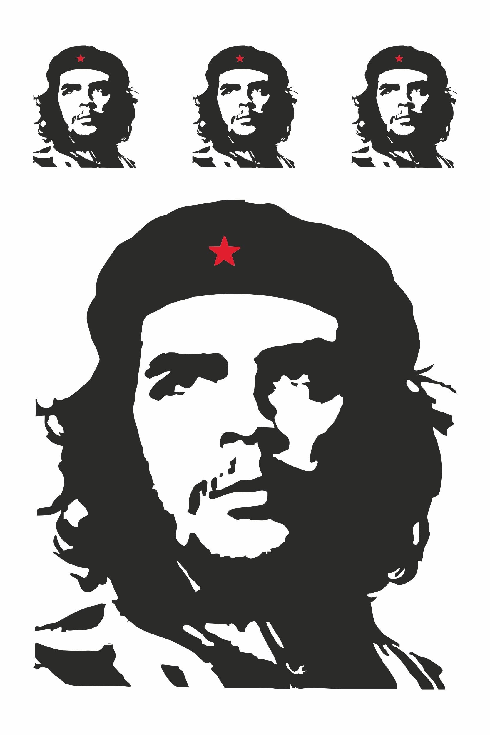 Contours d'autocollant Che Guevara Set de 4 – Bild 1