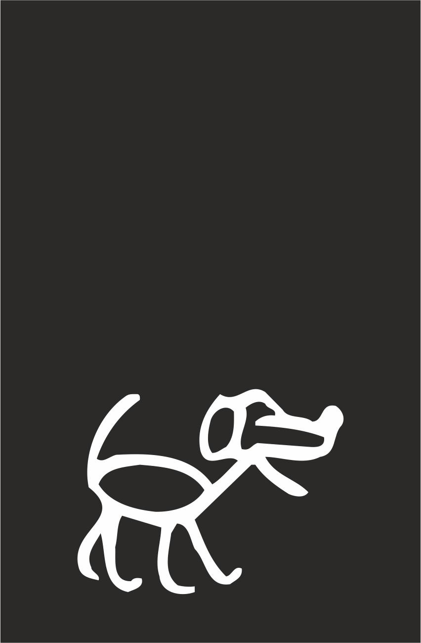 Family-Sticker chien dessin au trait 35 x 45 mm appliqué – Bild 2