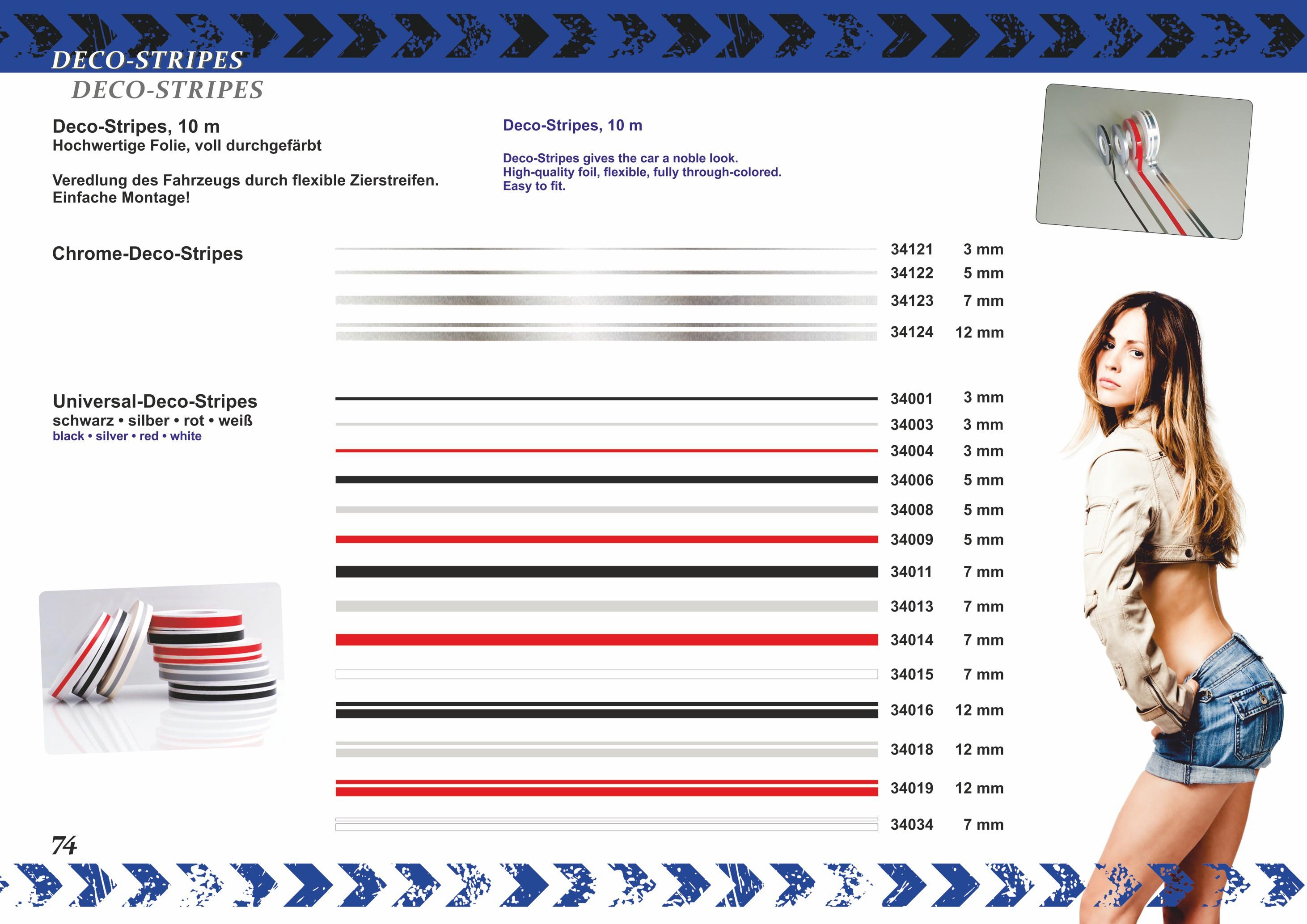 Car Deco-Stripe black 12 mm x 10 m  !!!Double-Stripe!!! – Bild 4