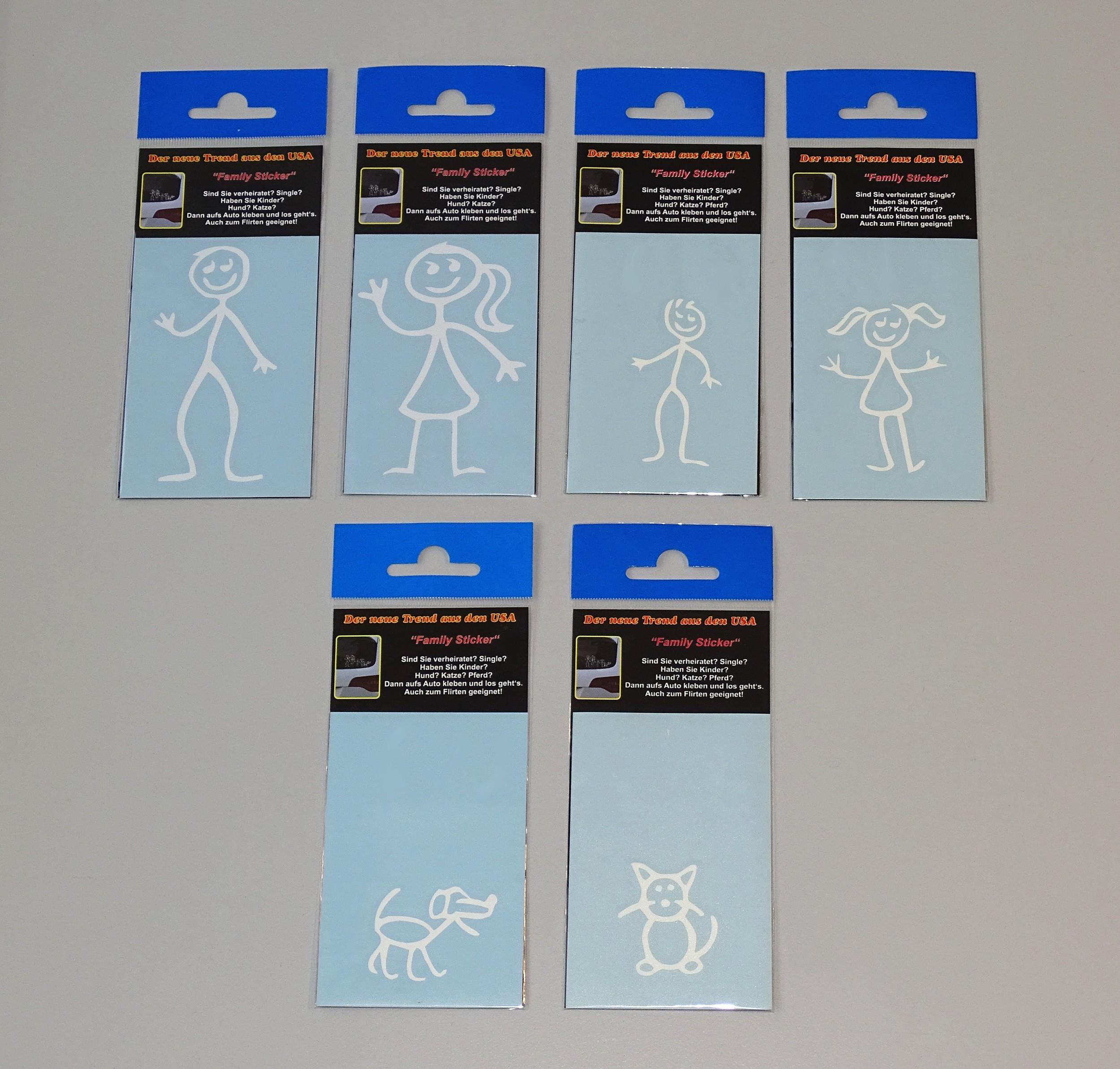 Family-Sticker chat dessin au trait 40 x 35 mm appliqué – Bild 4