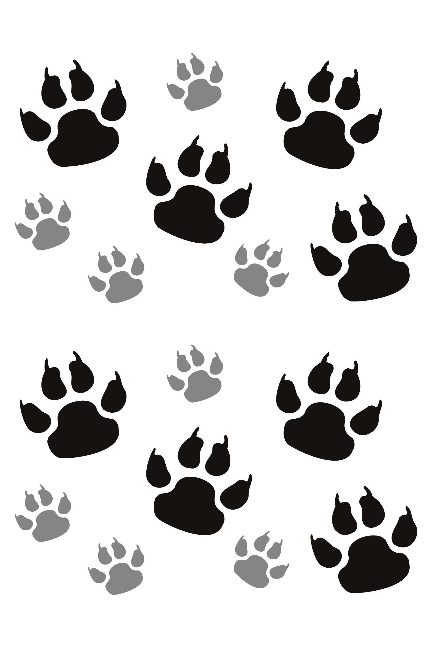 Sticker dog´s paw 300 x 200 mm black/silver – Bild 1