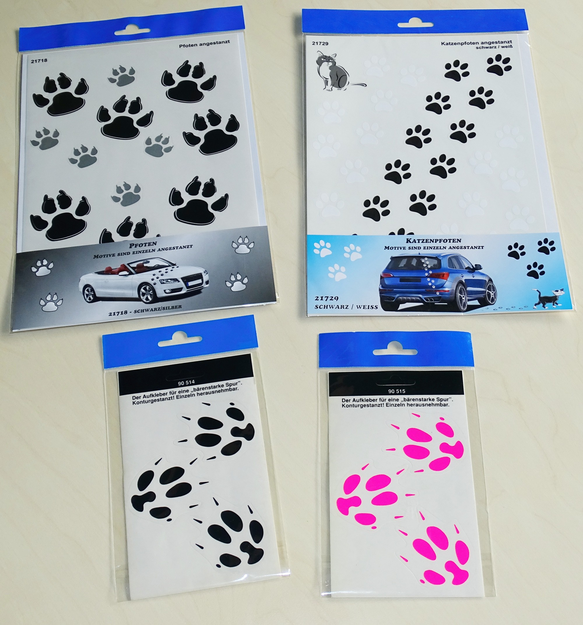 Sticker cat´s paw 300 x 200 mm black/white – Bild 2