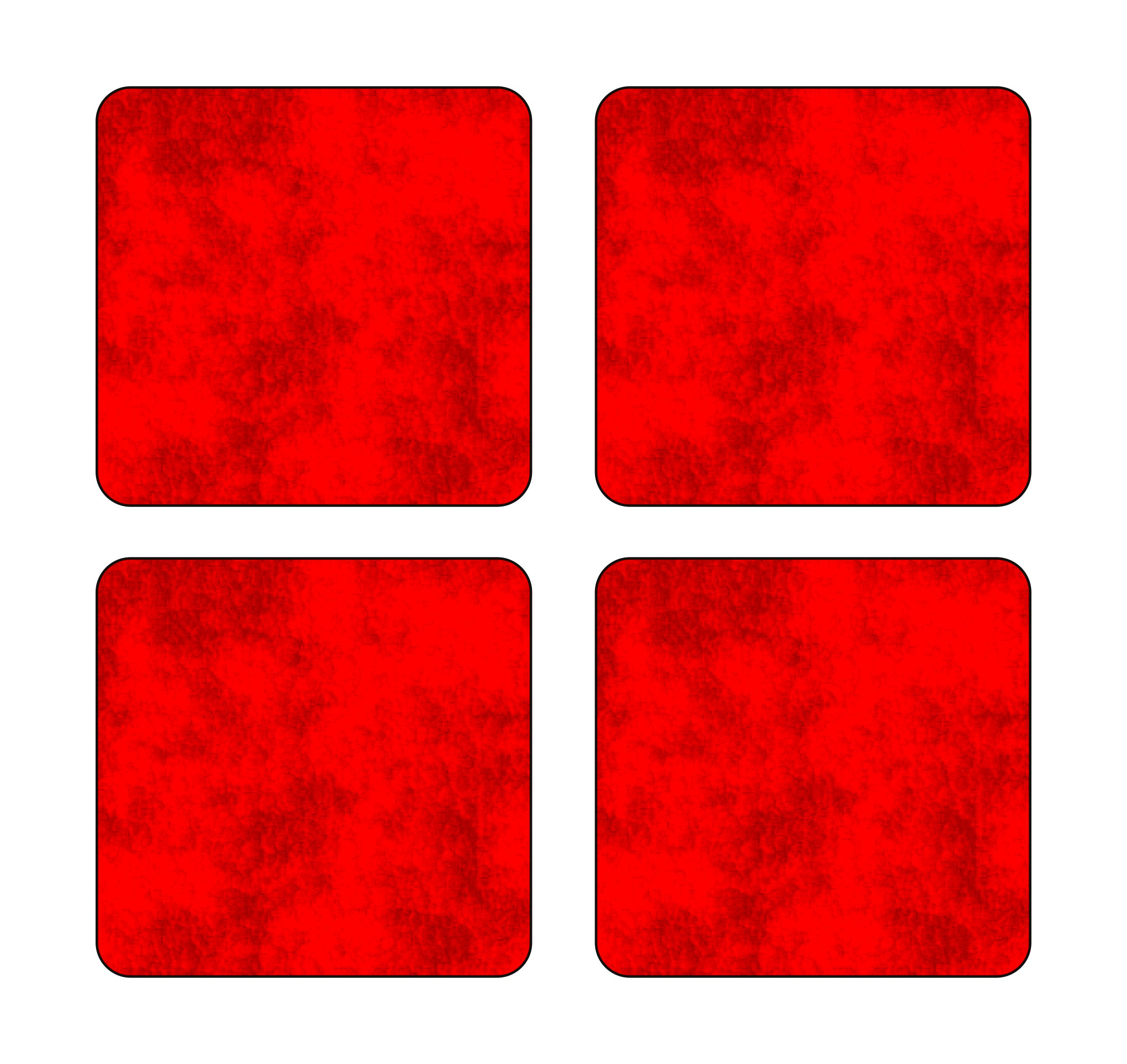 Sticker dimension holography-glow-reflectors 105 x 105 mm red