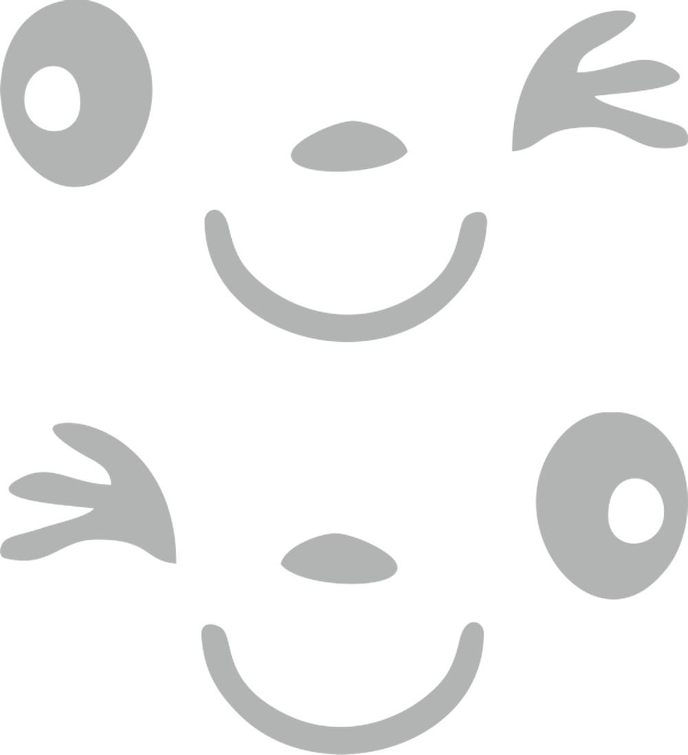 Aufkleber Spiegel- und Car-Tattoo Happy Face – Bild 1