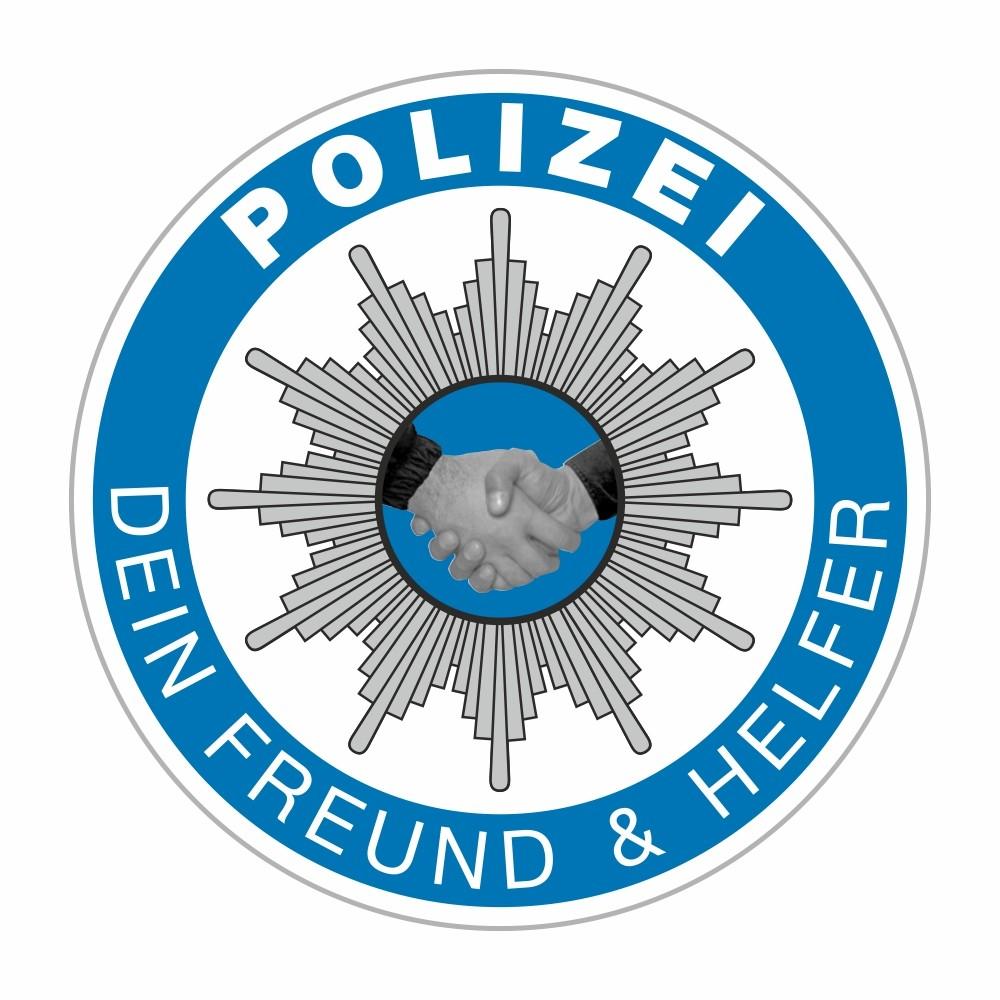 Sticker Polizei - Dein Freund & Helfer Ø 60 mm – Bild 1