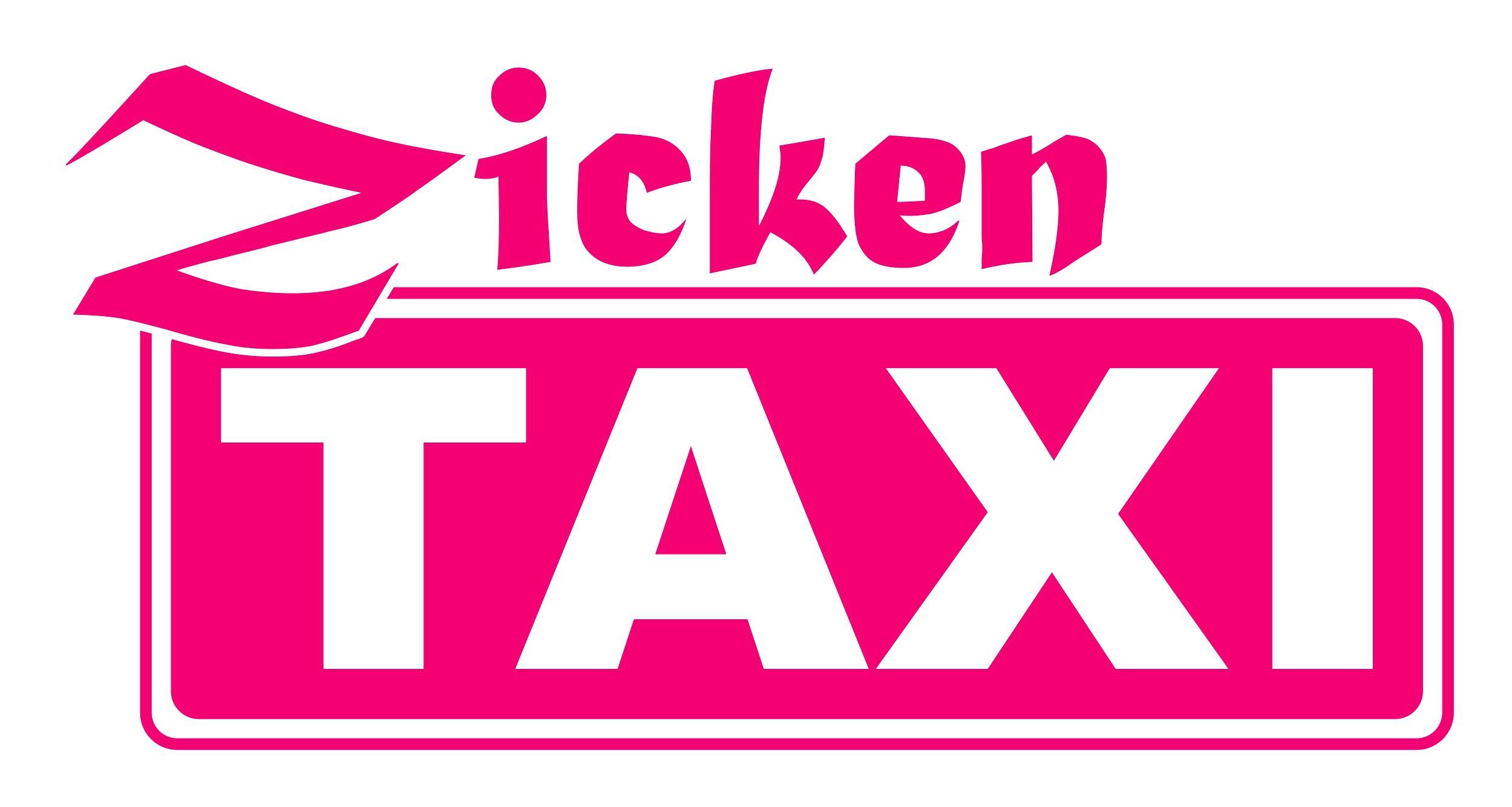 Aufkleber Zicken Taxi 145 x 115 mm – Bild 1
