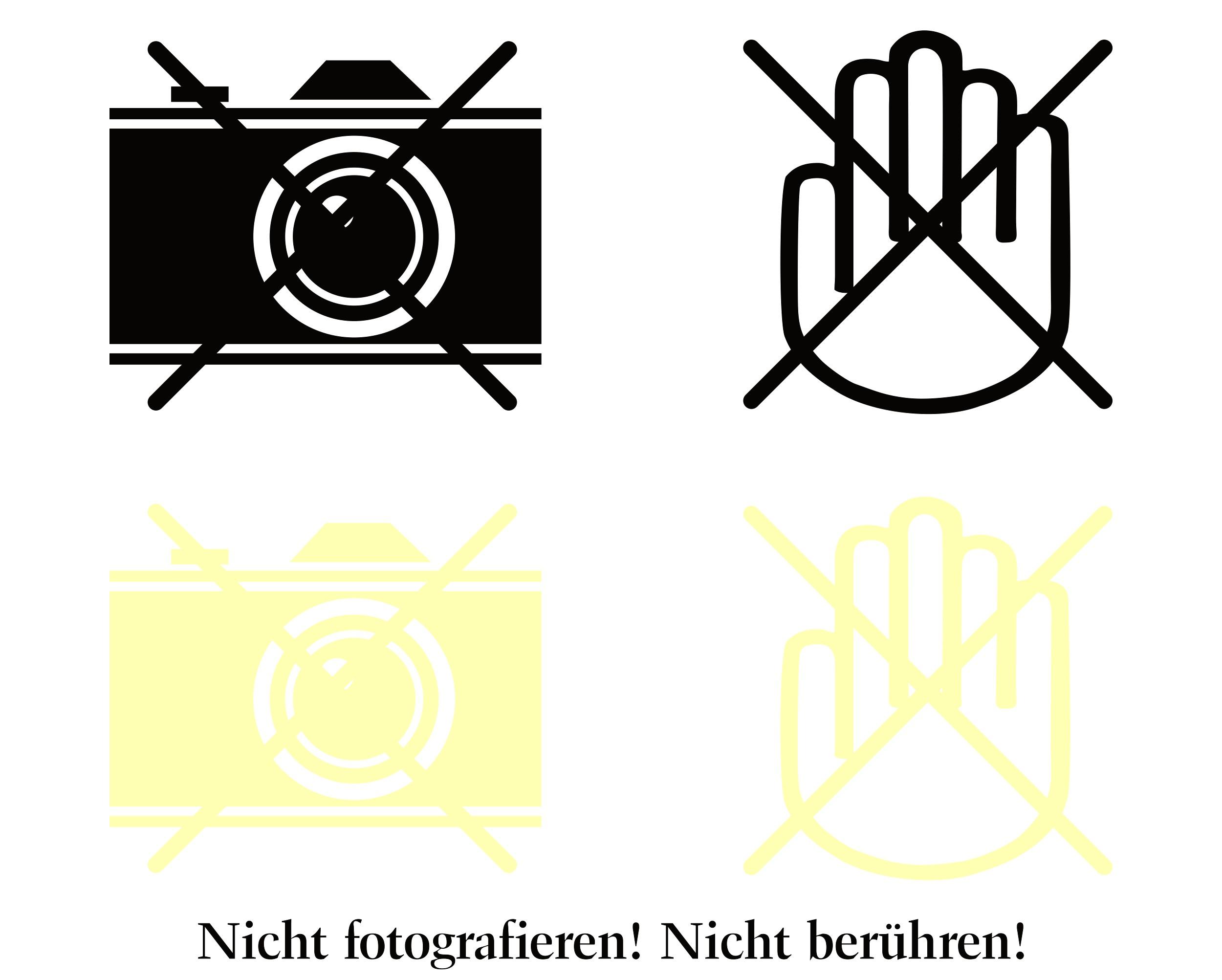 Aufkleber Nicht fotografieren! Nicht berühren! 4 Stück 115 x 150 mm