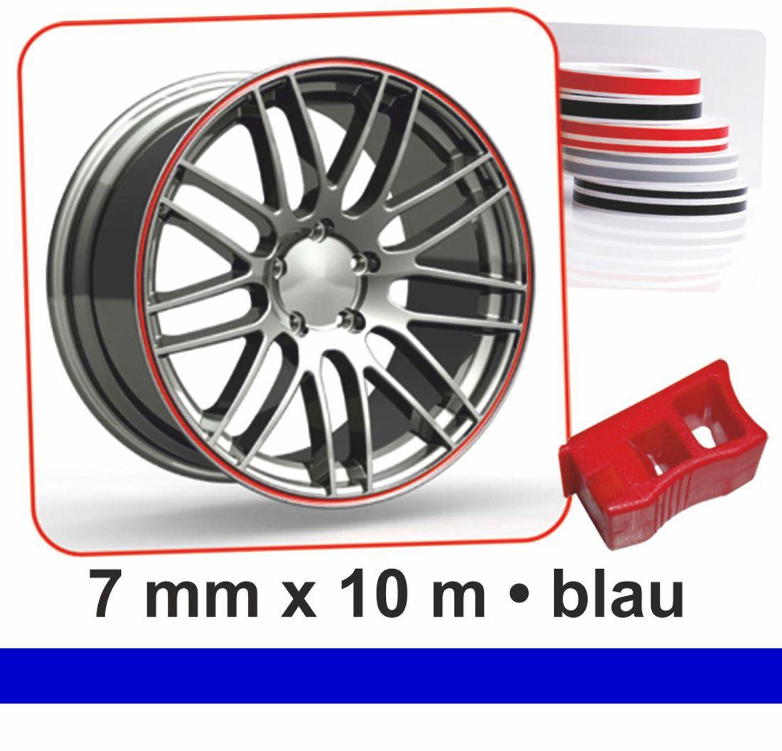 Deco-Stripes Wheel-Stripes for wheel-rimsblue 7 mm x 10 m