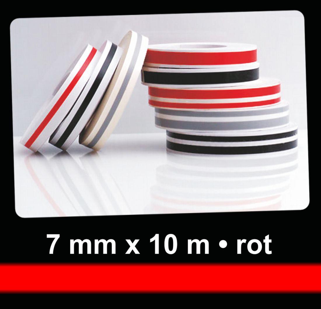 Neon-Zierstreifen Deco-Stripe rot 7 mm x 10 m – Bild 1
