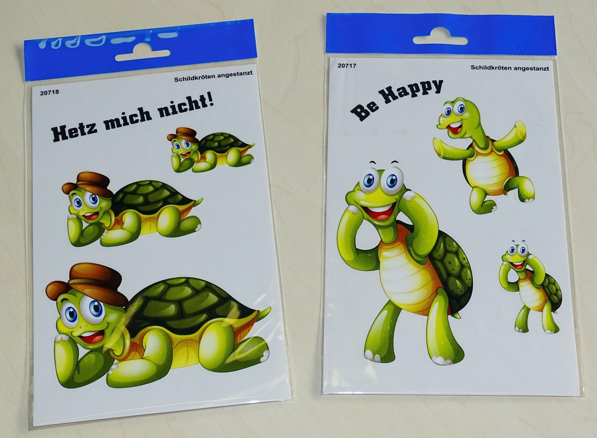 Aufkleber Schildkröten Hetz mich nicht! 3 Stück – Bild 2