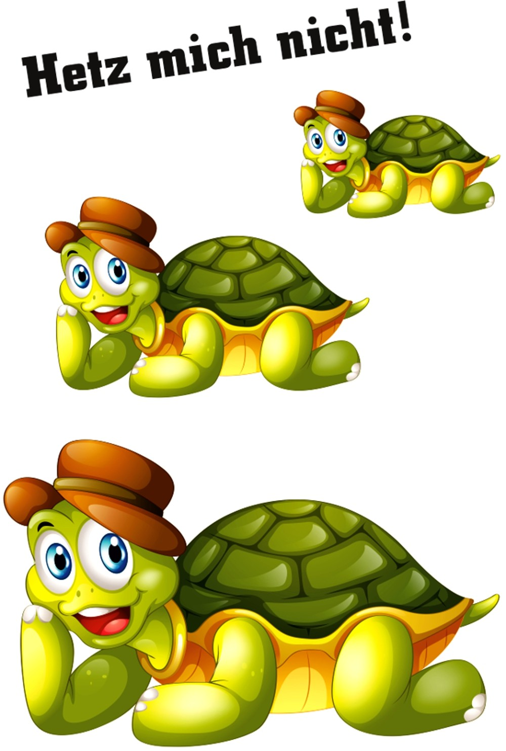 Aufkleber Schildkröten Hetz mich nicht! 3 Stück