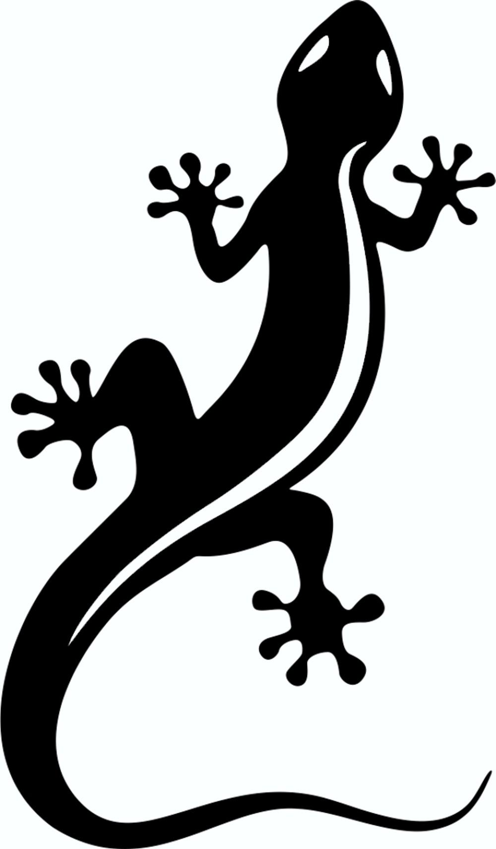 Aufkleber Gecko schwarz – Bild 1