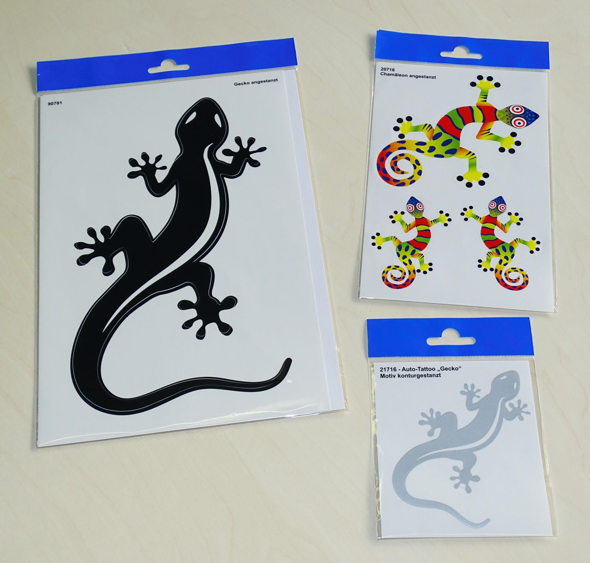 Aufkleber Gecko silber – Bild 2