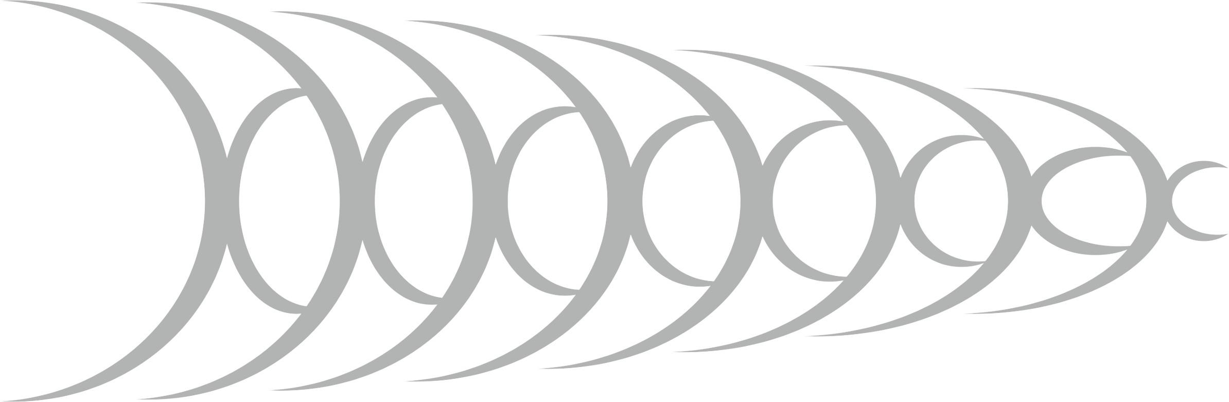 Car-Tattoo Schallwellen 1360 x 425 mm silber – Bild 1