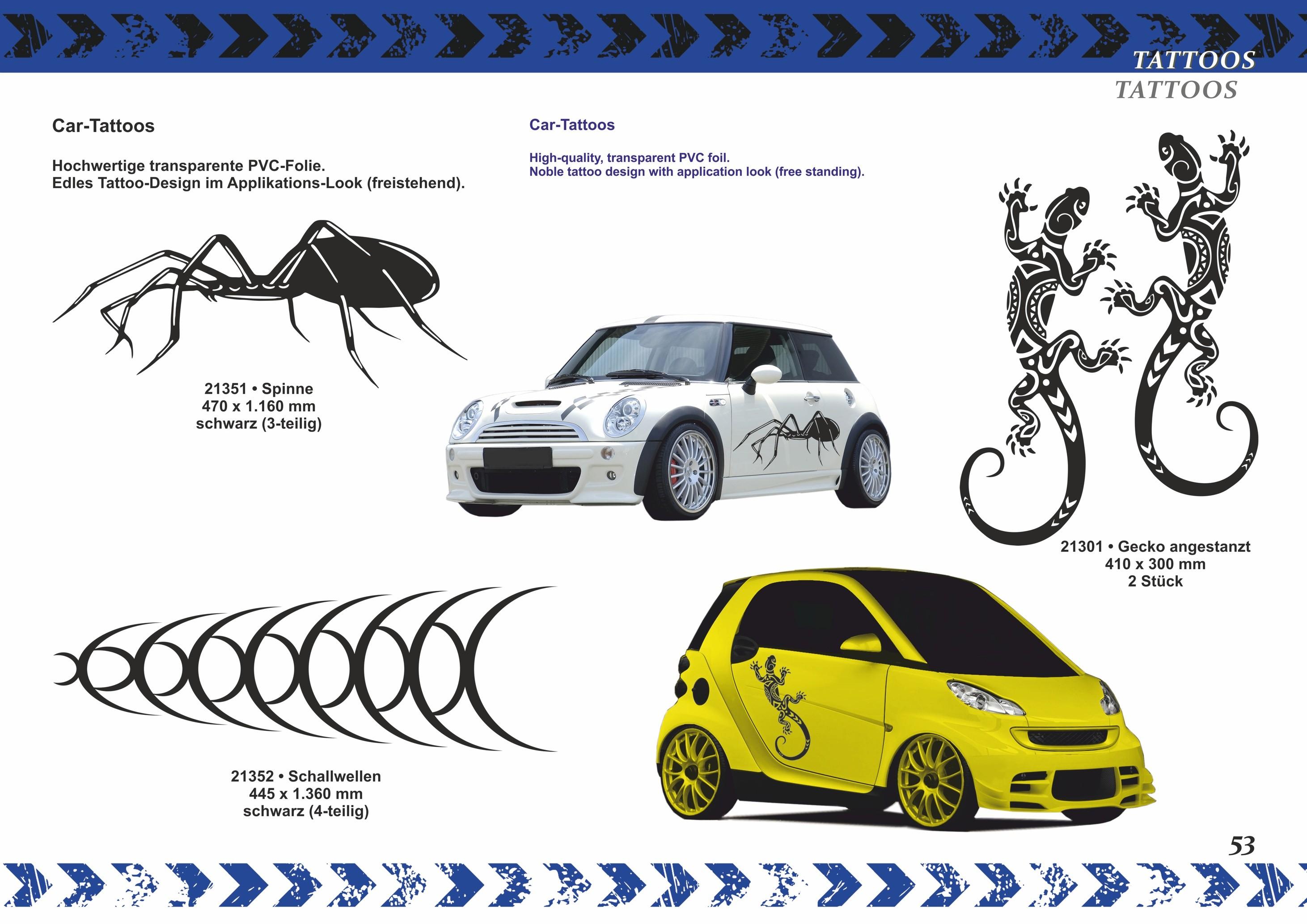 Car-Tattoo Schallwellen 1360 x 425 mm silber – Bild 5
