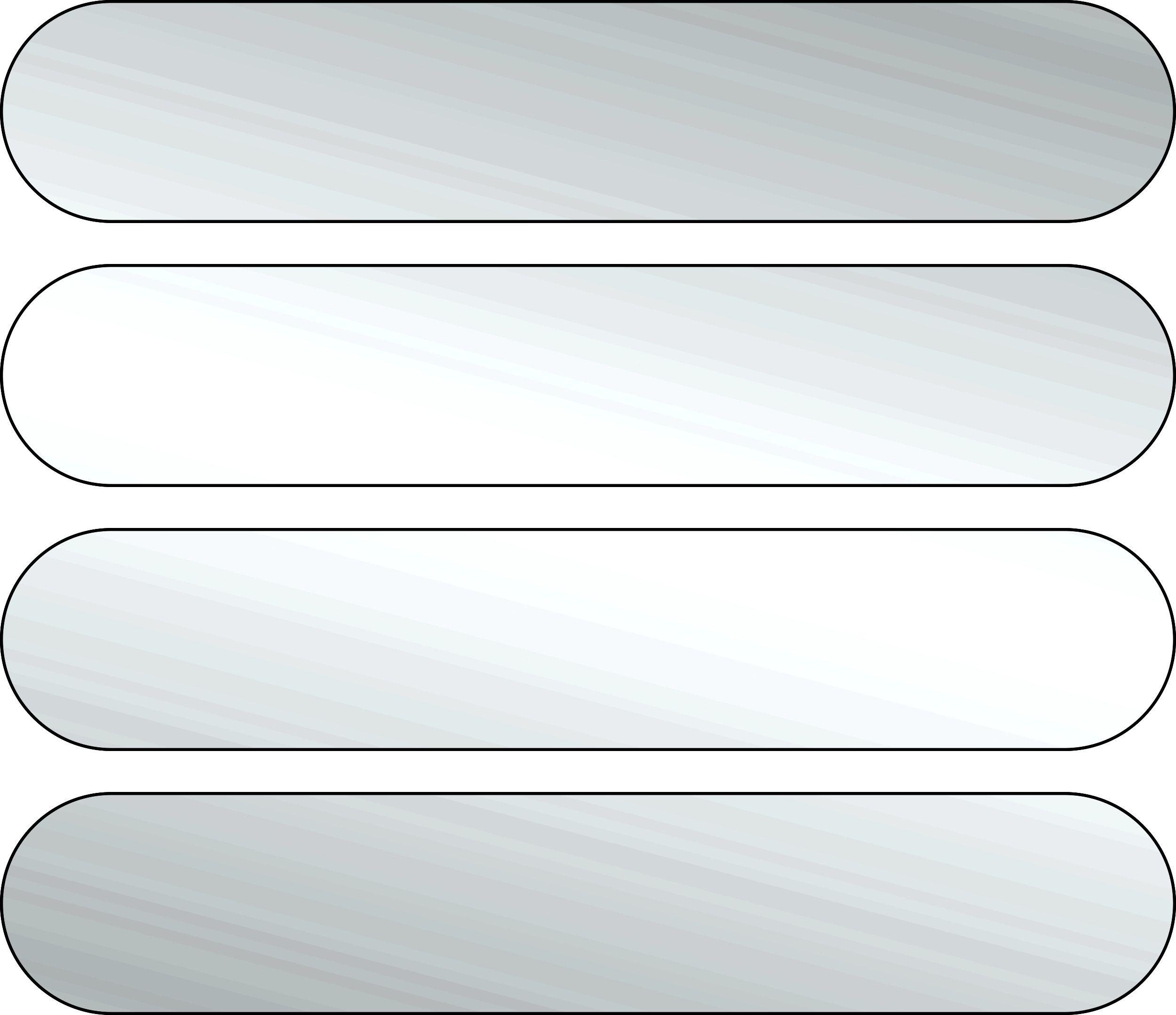 Aufkleber Reflektionsstreifen 80 x 15 mm weiß – Bild 1