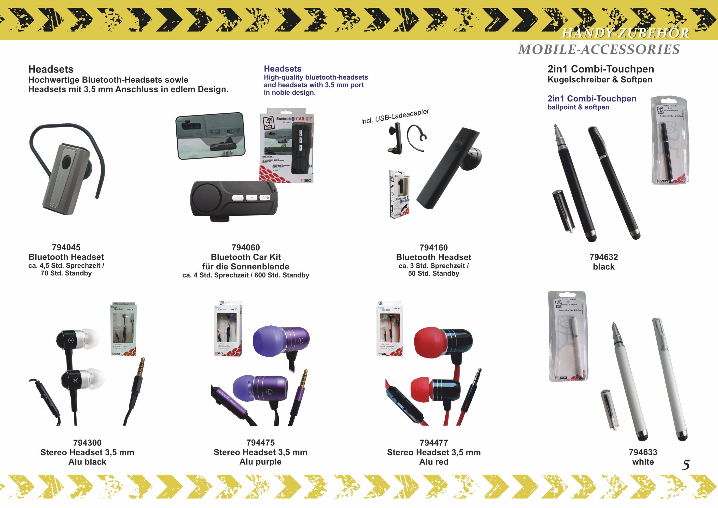 2GO Stereo InEar Headset Alu purple – Bild 3