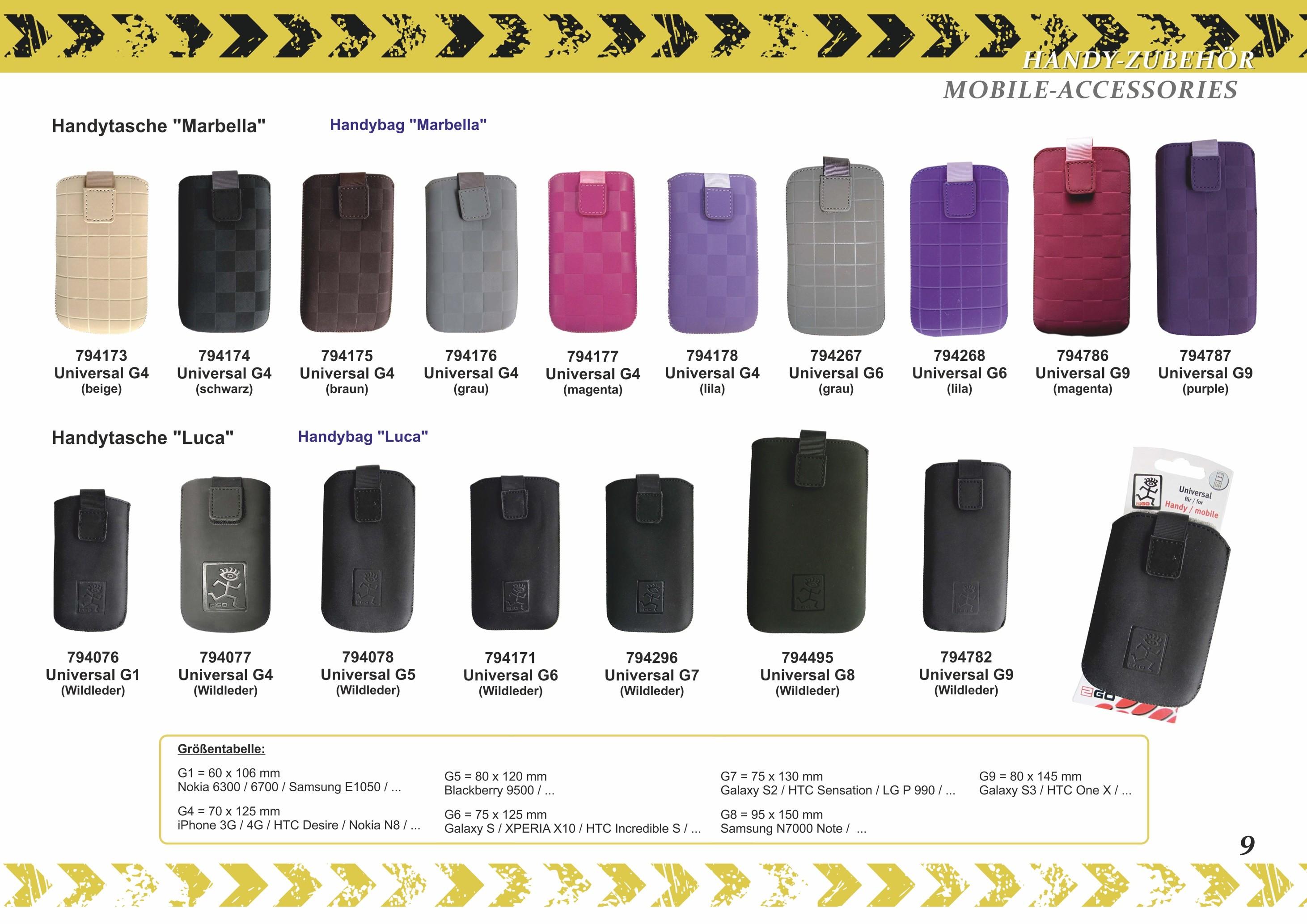2GO mobile bag Marbella universal size 145 x 80 mm suede – Bild 6