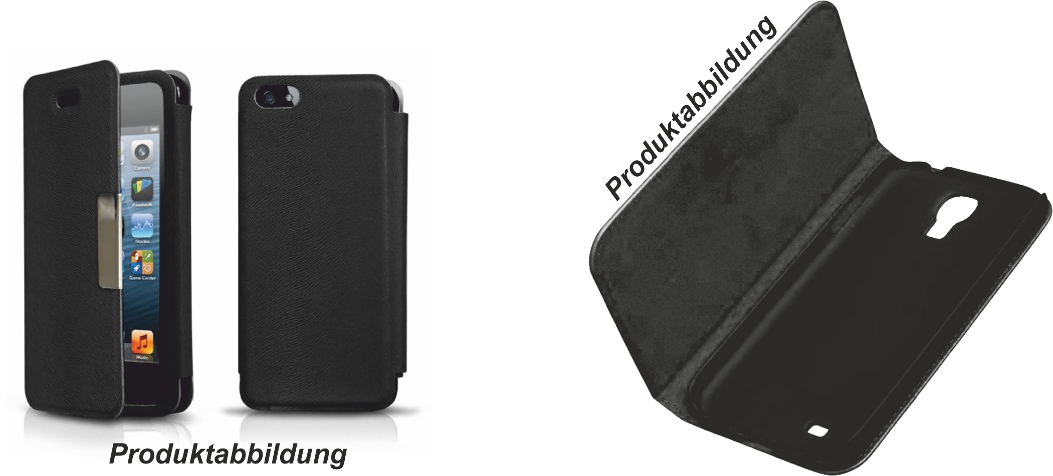2GO Book-Case für iPhone 5 / 5S Leder – Bild 2