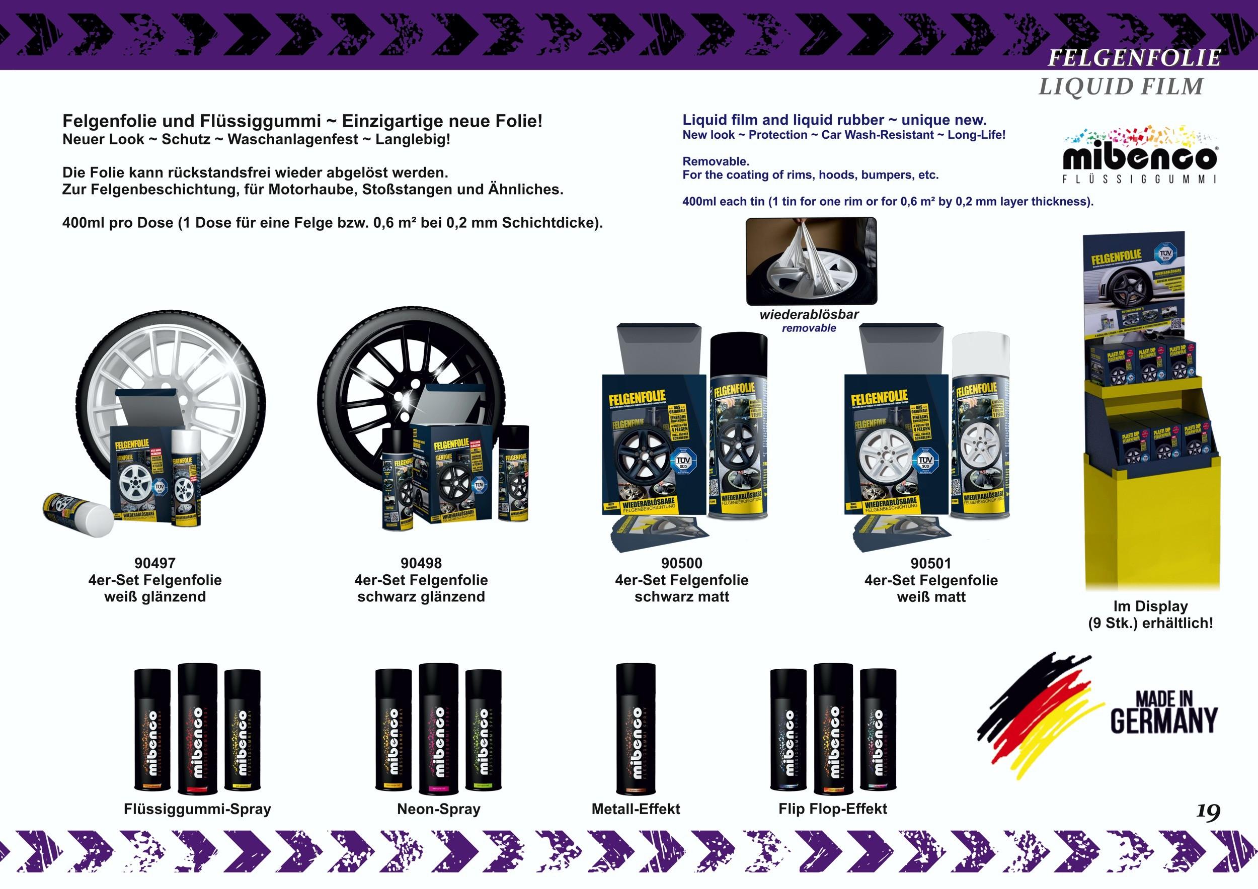 Mibenco liquid film glossy black (consisting of one tin 400ml) ...also for car body – Bild 5
