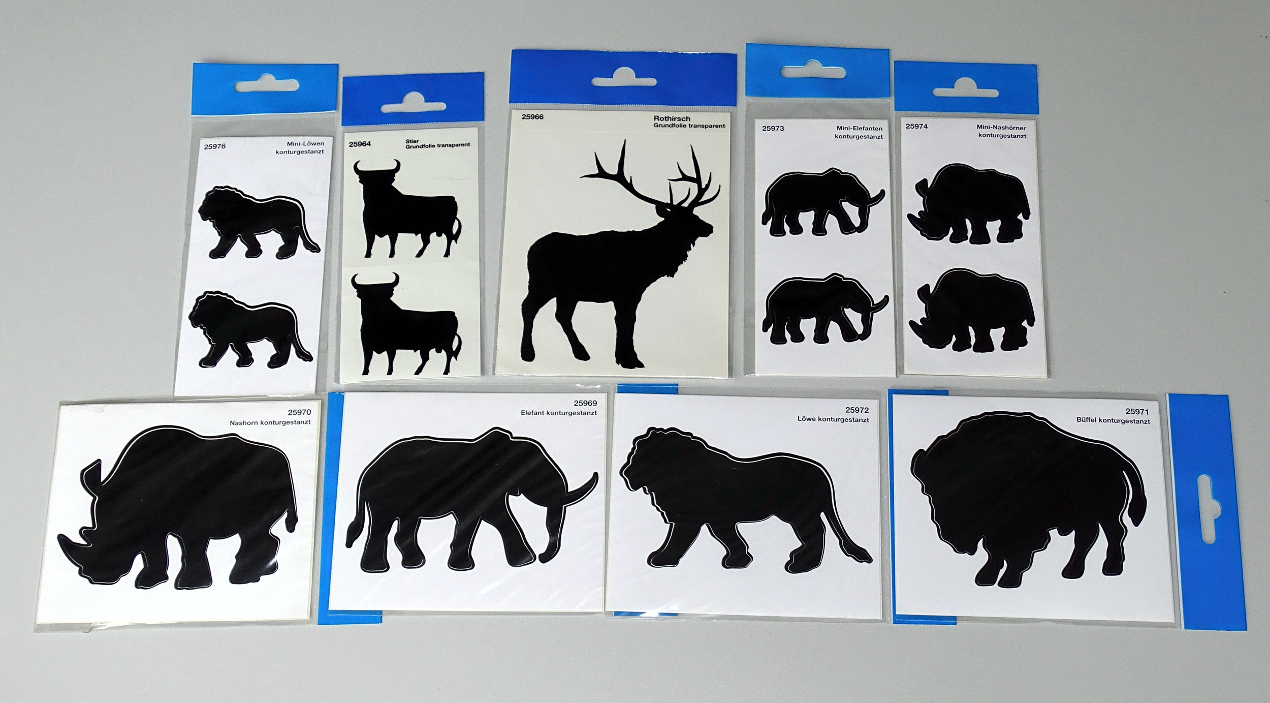 Sticker Outline Rhinos 2 pcs – Bild 2
