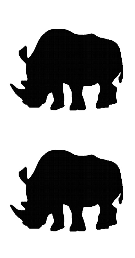 Sticker Outline Rhinos 2 pcs – Bild 1