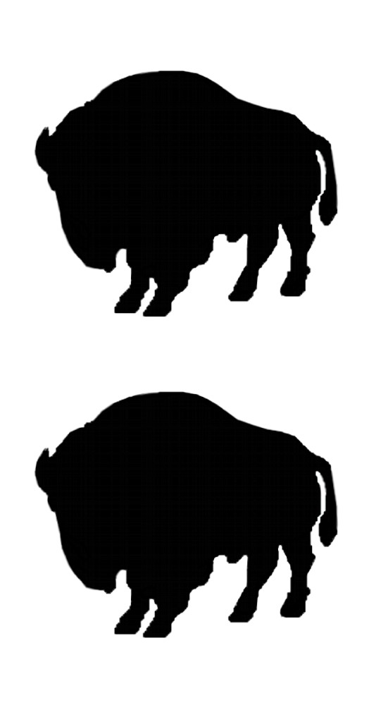 Sticker Outline Buffaloes 2 pcs – Bild 1