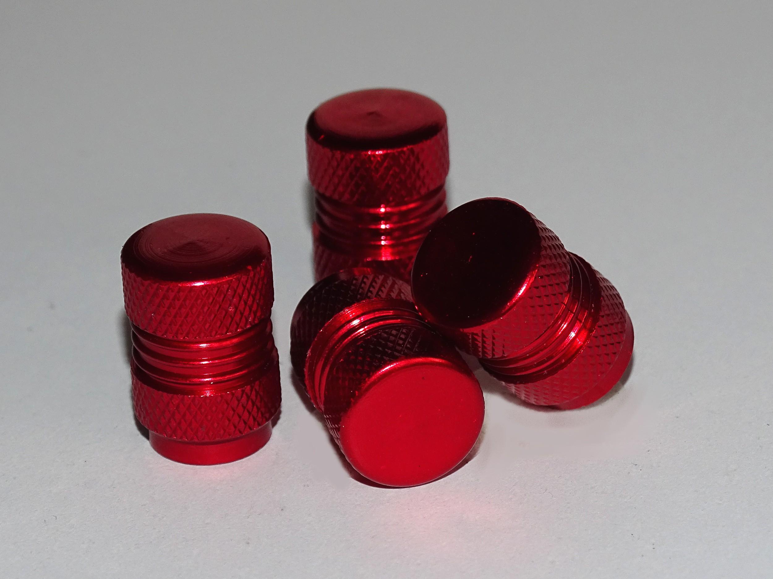 Ventilkappen Vent-Cap Neutral rot 4er-Set – Bild 1