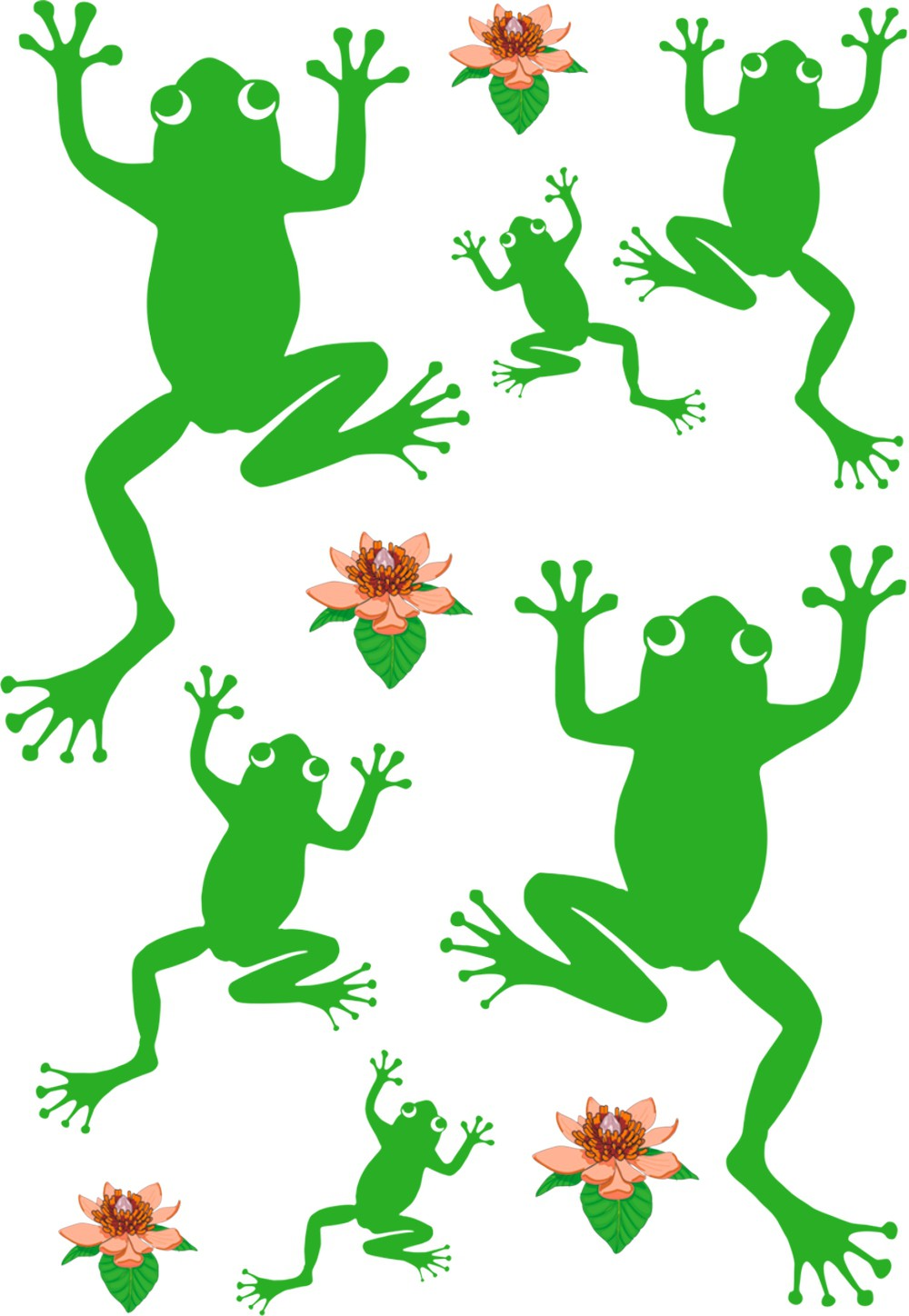 Sticker frogs and water lilies 300 x 200 mm – Bild 1