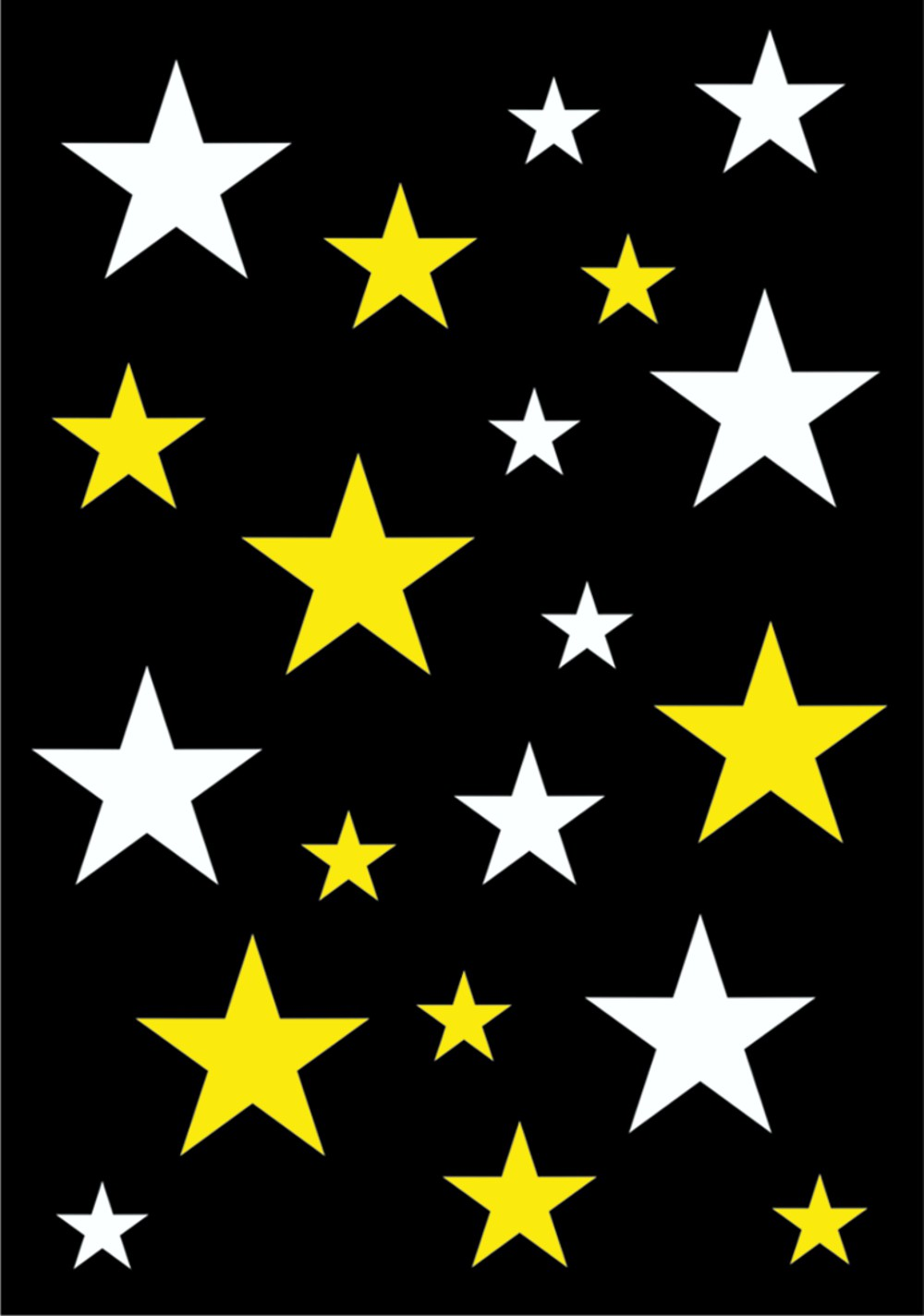 Sticker Stars-Set 300 x 200 mm white/yellow