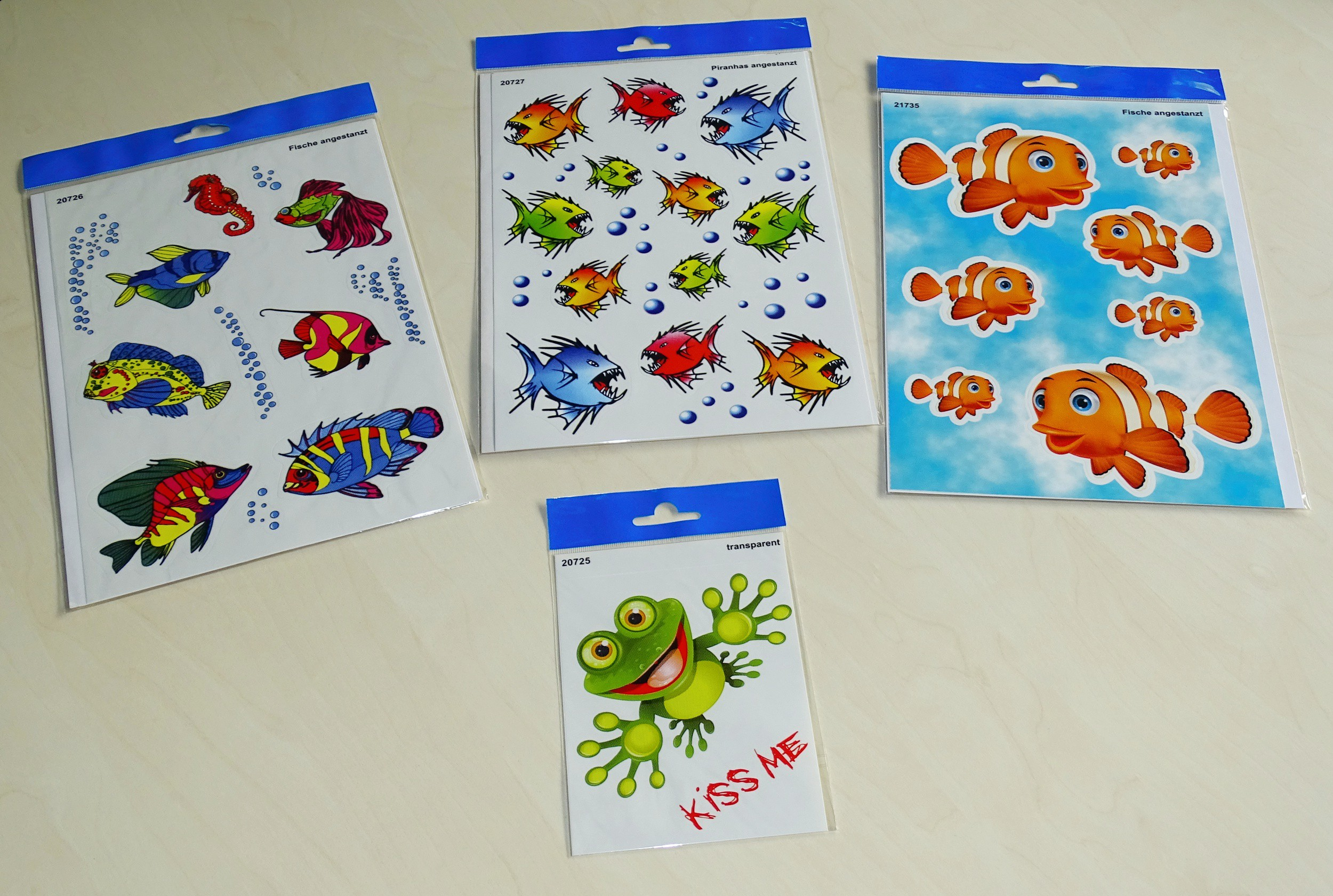 Sticker fishes 300 x 200 mm multicolored – Bild 2