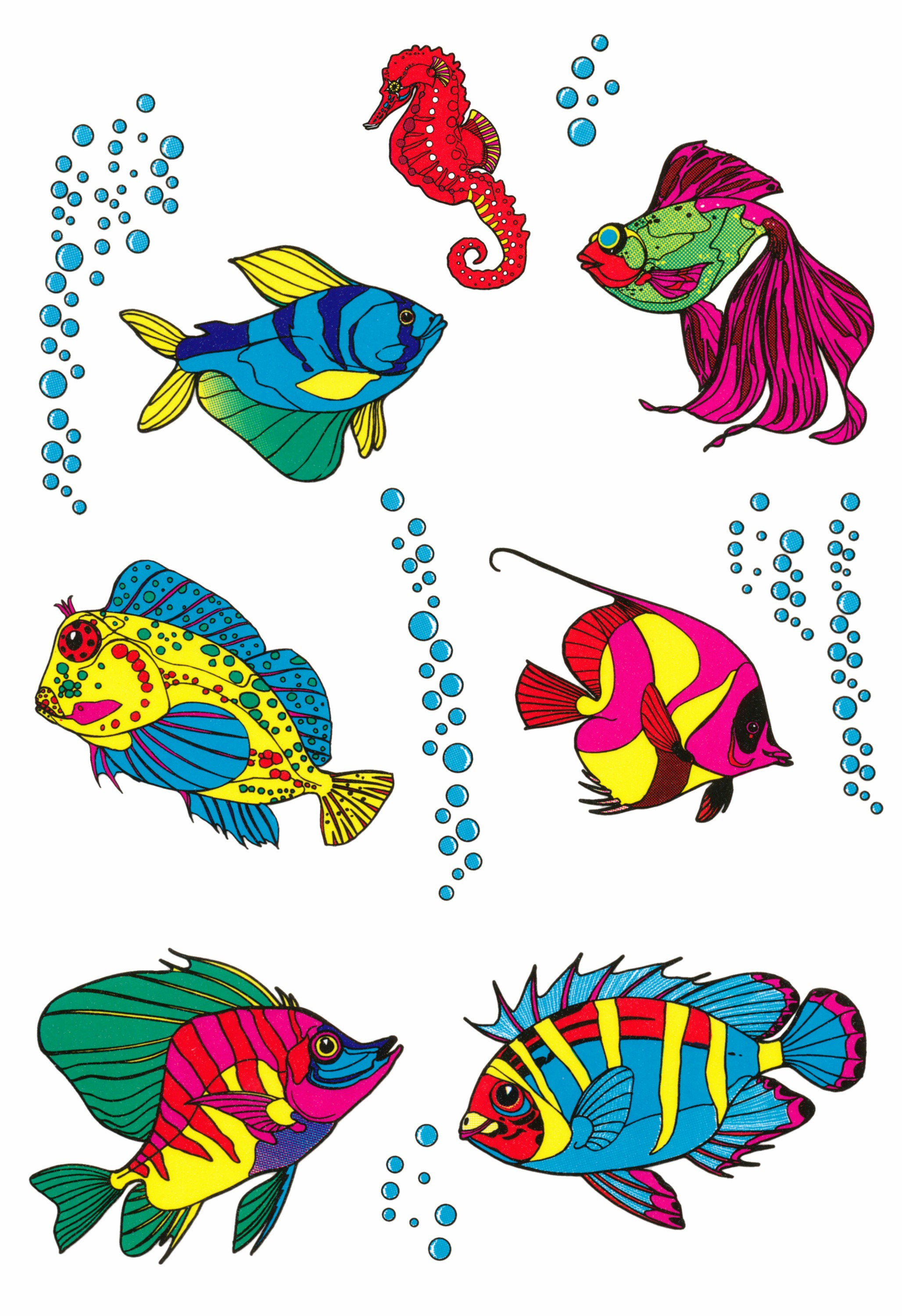 Sticker fishes 300 x 200 mm multicolored – Bild 1