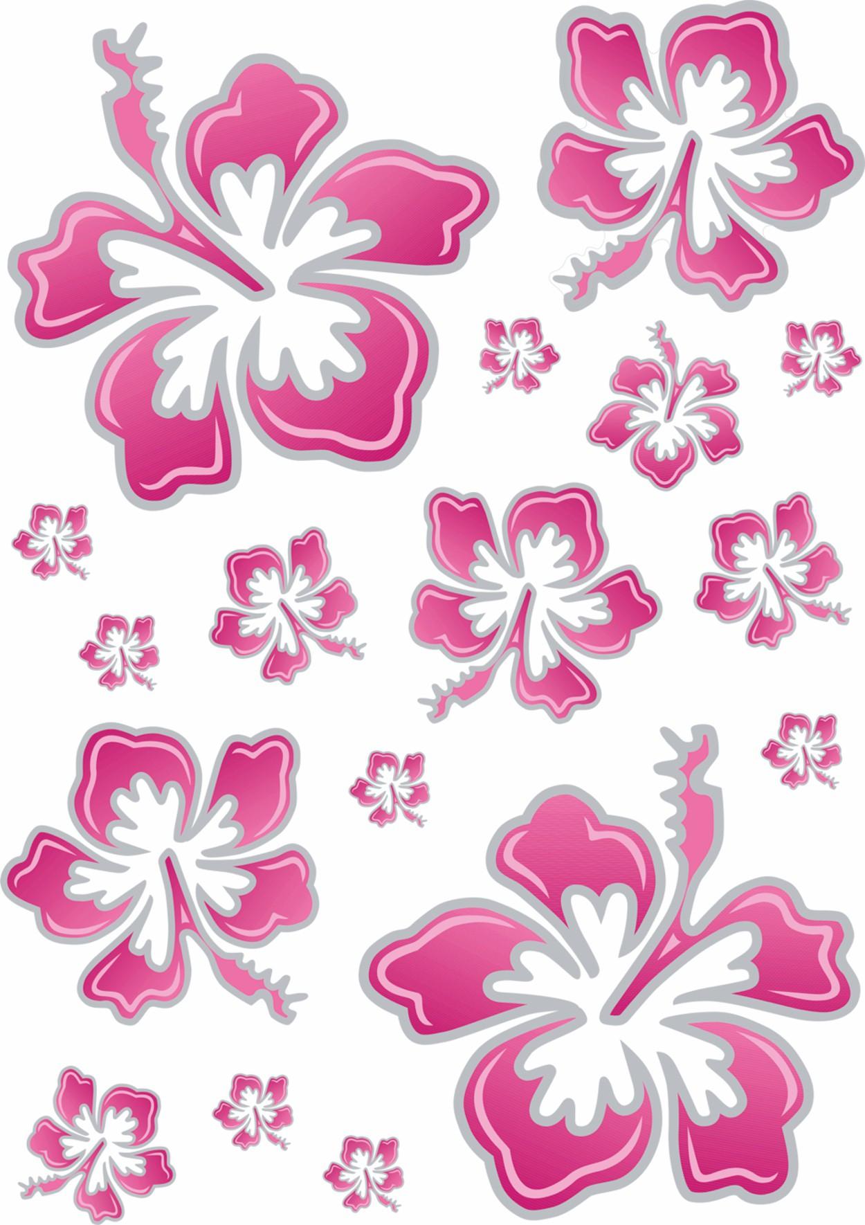 Sticker hibiscus flower set 480 x 310 mm pinksilver car deco sticker hibiscus flower set 480 x 310 mm pinksilver izmirmasajfo