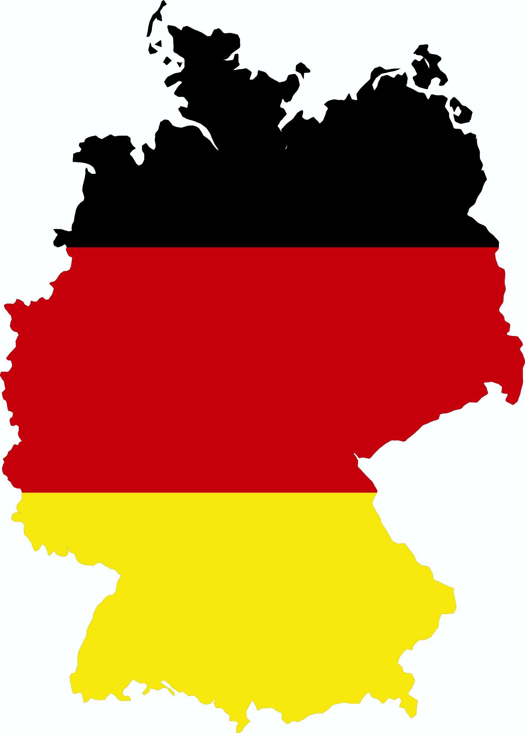 Aufkleber Deutschland Landkontur Dimension 70 x 55 mm Deutschland Fanartikel Olympia – Bild 1